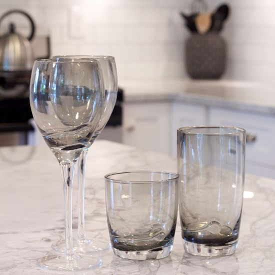 The Haze Glassware from Urban Barn is a unique home decor item. Urban Barn carries a variety of Glassware and other  products furnishings.
