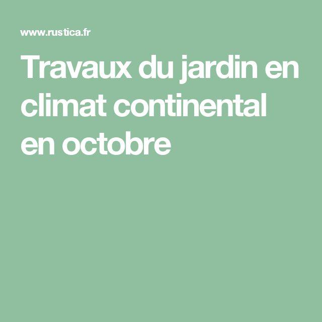 Travaux du jardin en climat continental en octobre