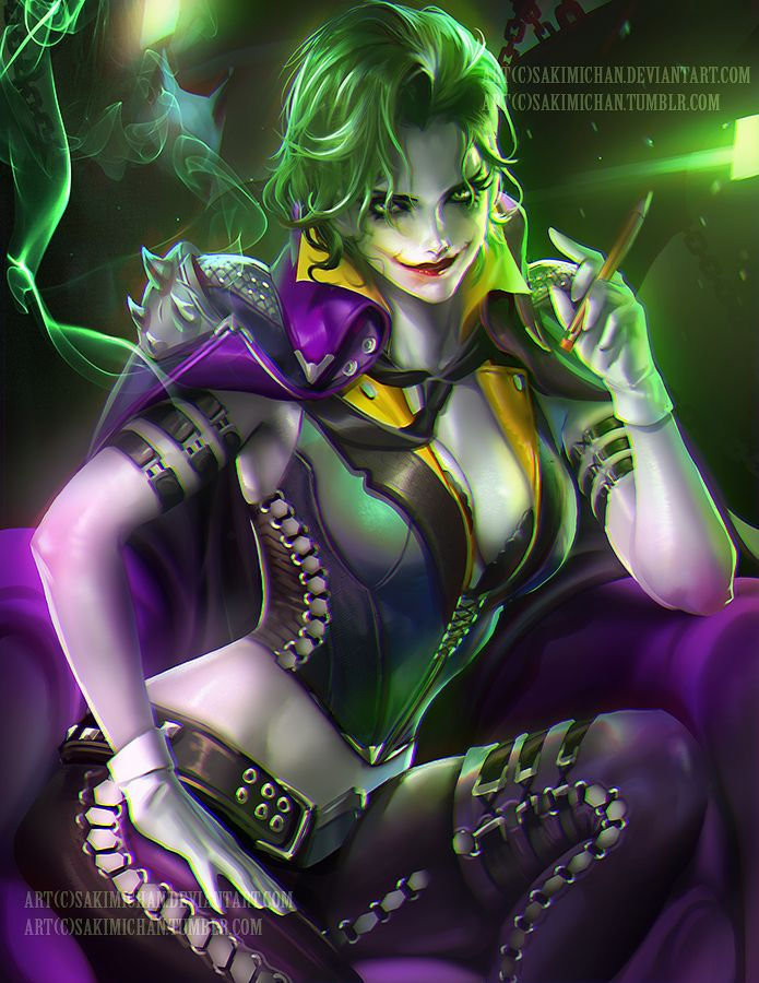 thecyberwolf:  JokerCreated by Yue Wang (Sakimichan)/Find this Artist on DeviantArt - Tumblr - Facebook