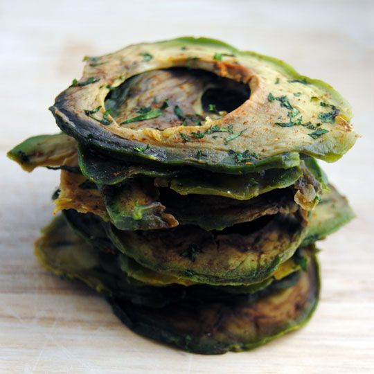 Avocado Chips | These tangy avocado chips were sliced perfectly with a Weston Mandoline Slicer and dehydrated in a Weston Food Dehydrator for a tasty homemade snack.    http://blog.westonproducts.com/2013/01/avocado-chips-in-weston-food-dehydrator.html#