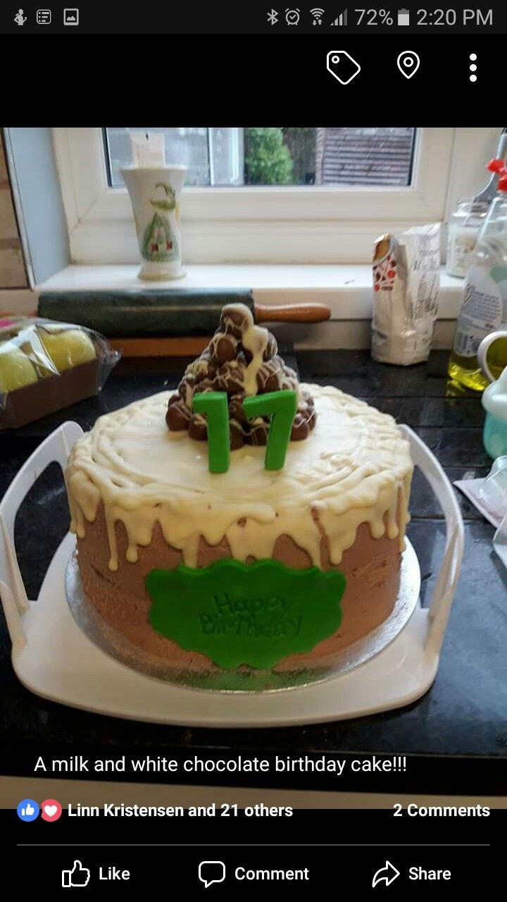 Milk amd white  choc cake