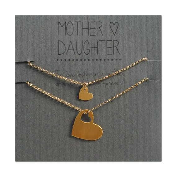 Mother Daughter Bracelet Set  gold hearts For Addi's first day of Kindergarten