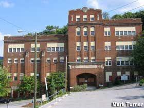 Bluefield, West Virginia -   School with Most Multi-Level Entrances  http://www.roadsideamerica.com/tip/13853