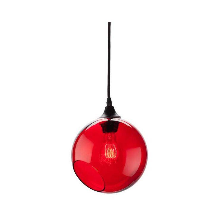Sphere Red Glass Pendant Lighting