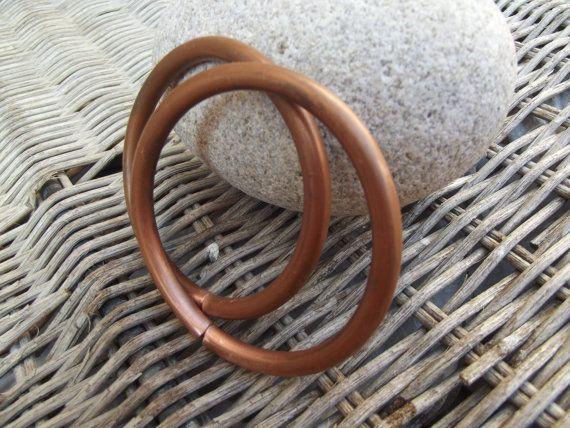 2 Mens rame Bracciali bracciali tubo rame di silveringjewelry