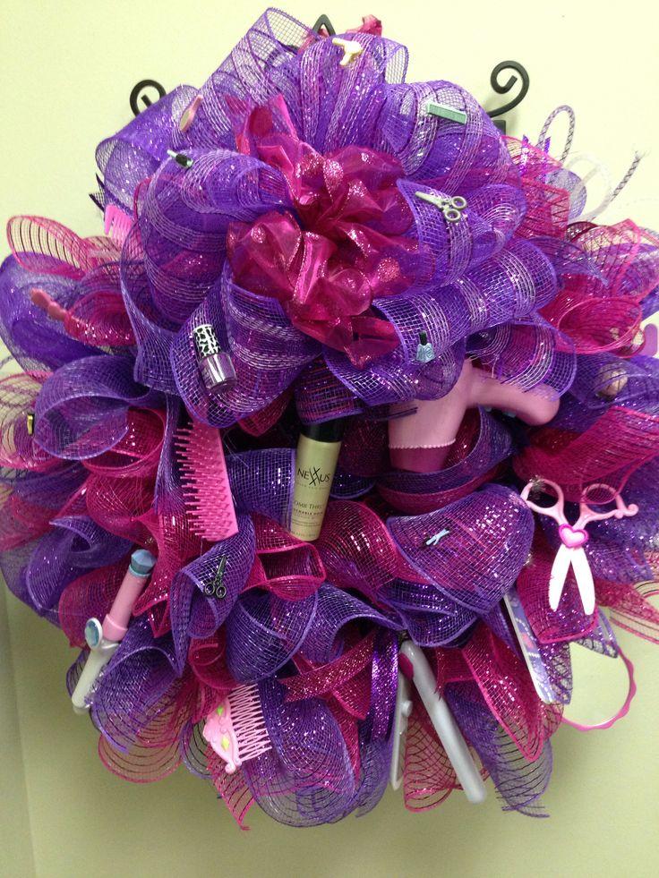 My salon Christmas wreath