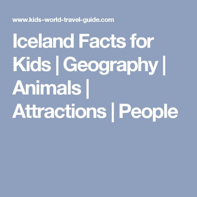 Iceland Facts for Kids | Geography | Animals | Attractions | People