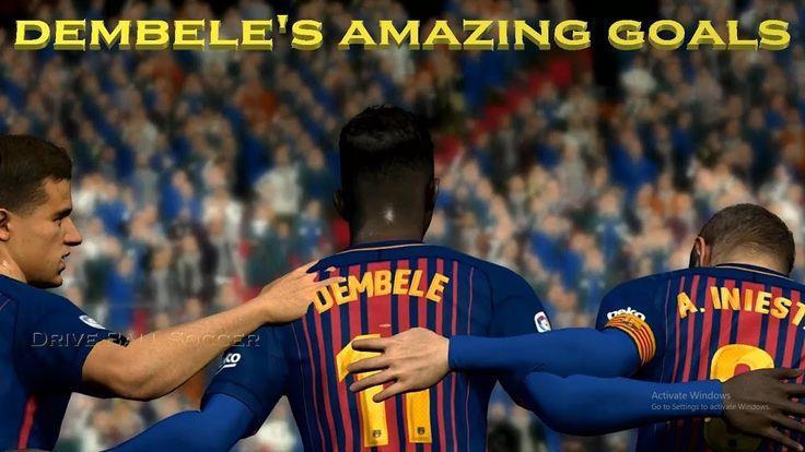 Dembele's Amazing Goals | Barcelona vs Getafe | La Liga | PES 2017 HD