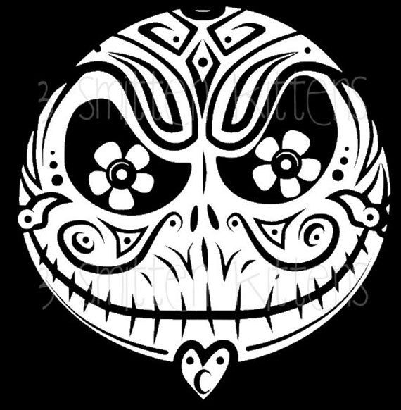Jack Skellington Sugar Skull Car Decal By 3smittenkittens