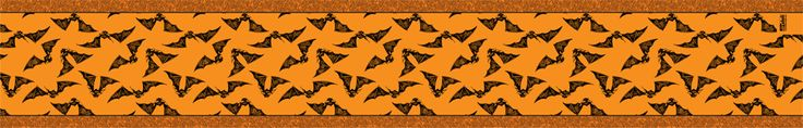 Gone Batty • Orange Table Runner   This unique table runner is made of good quality thick woven burlap, 100% polyester. http://www.theartdeli.com