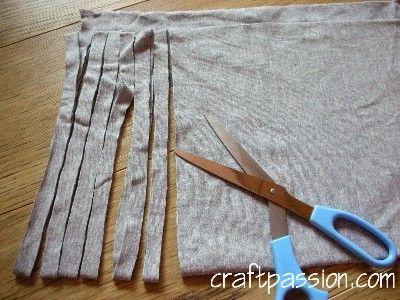 How To Cut Continuous Line of old T-Shirts for Yarn to Weave or Crochet    tshirtyarn_making4