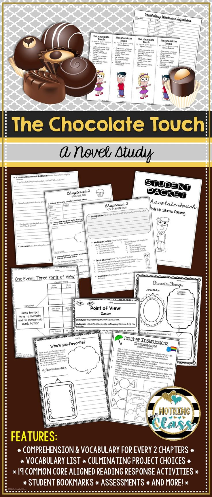 21 best The Chocolate Touch images on Pinterest | Guided reading ...