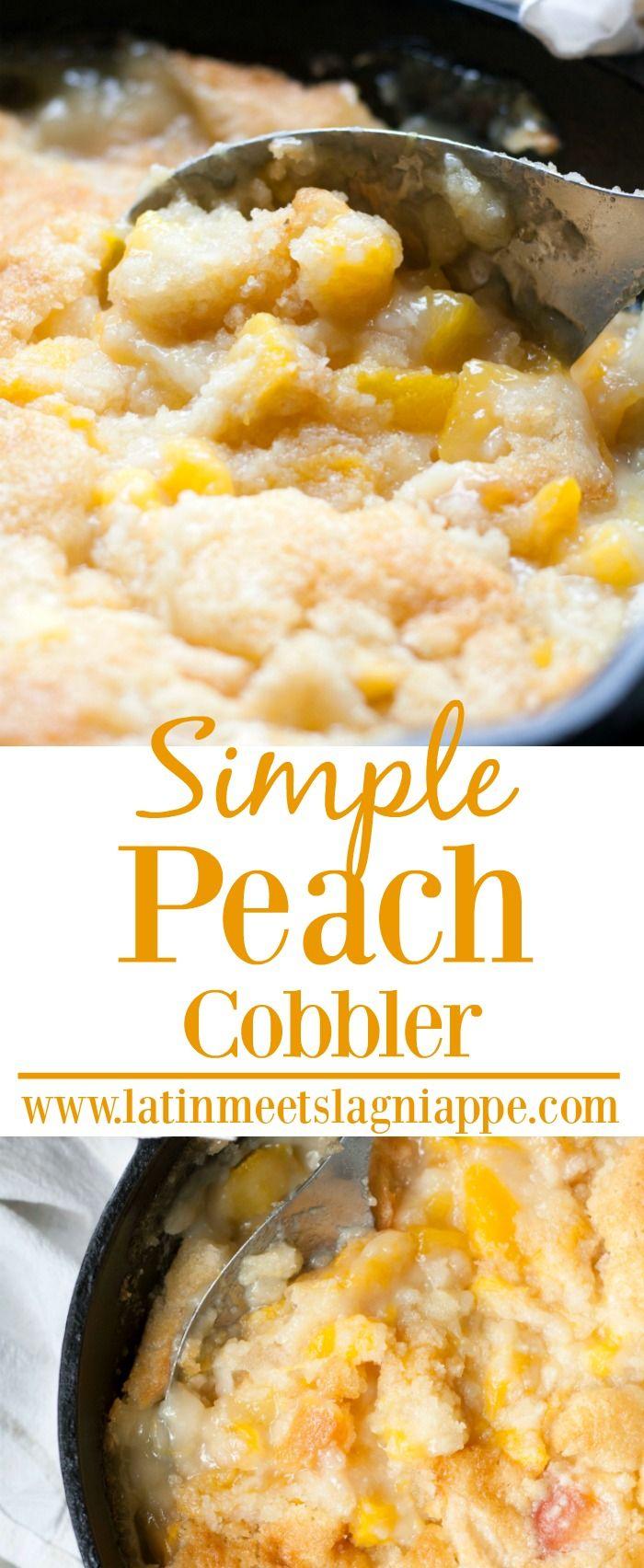 This simple Peach Cobbler is such a perfect summer dessert! #SundaySupper