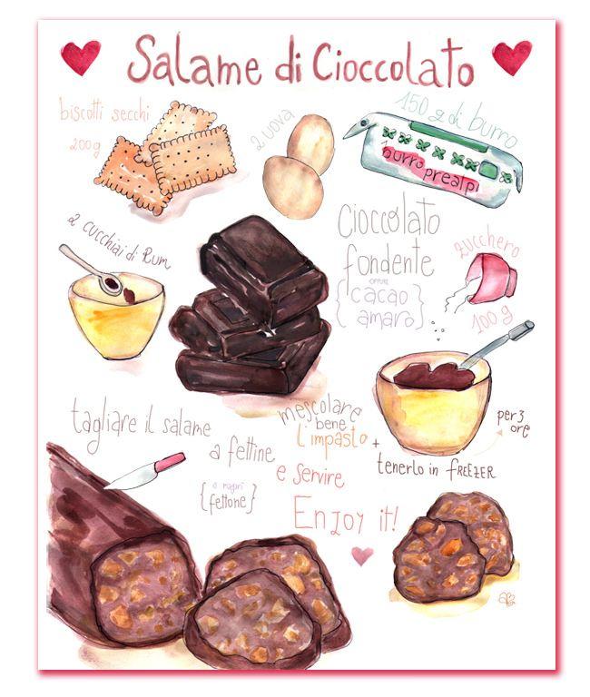 Ricette Illustrate - Salame al Cioccolato e Pastiera Vegana � gnam!