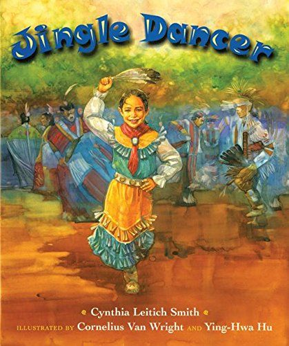 """Jingle Dancer - """"Jenna loves the tradition of jingle dancing that has been shared by generations of women in her family, and she hopes to dance at the next powwow. But she has a problem—how will her dress sing if it has no jingles?"""""""