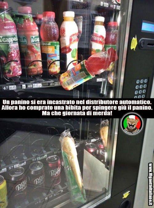 vignetta distributori automatici giornata di merda