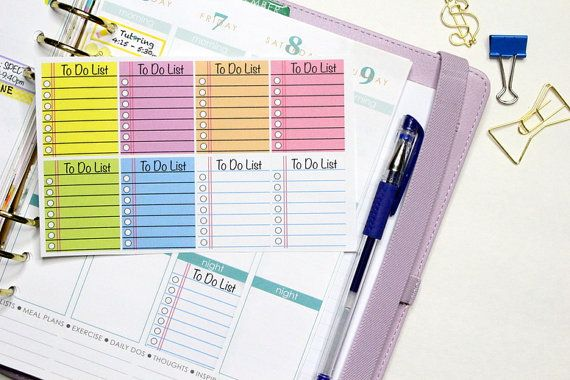 8 Notebook Checklist Squares for Erin Condren by KarolinasKrafts