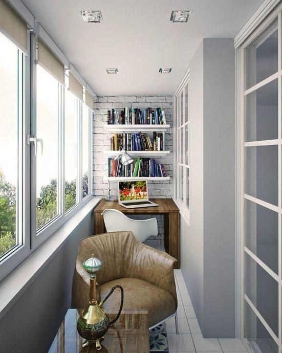 Лоджия в кирпично-монолитном доме - Дизайн интерьеров | Идеи вашего дома | Lodgers