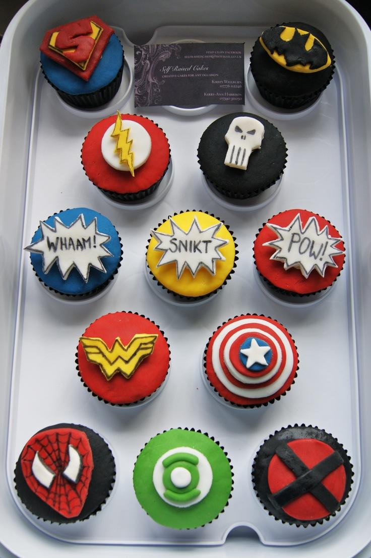 Superhero cupcakes.