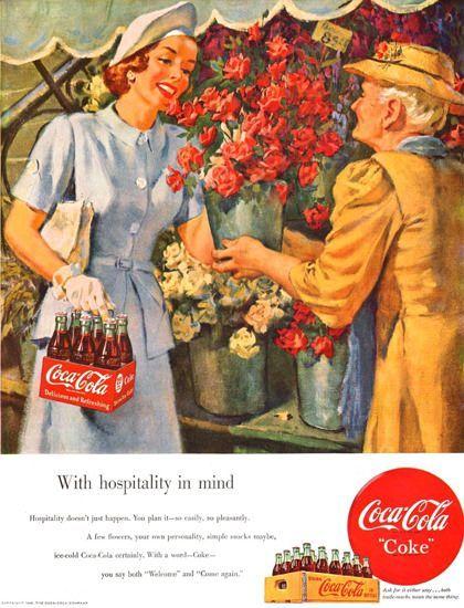 Coca-Cola Flower Shop Girl 1949 in 2019   Coca Cola Room