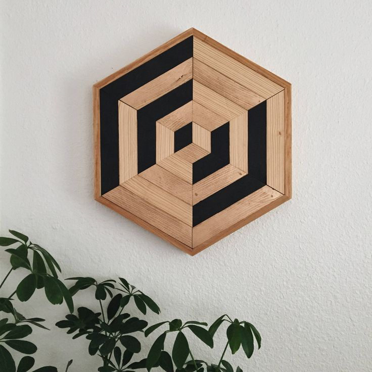 Hexagon 002 | Reclaimed Wood Wall Art | Geometric Wall Art | Home Decor | Woodworking | Boho Style Wall Art | Lath Art | Lath Woodworking