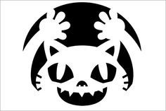33 Hair-Raising Cat Pumpkin Stencils for a Sinister Halloween | Pictures of Cats - Band of Cats