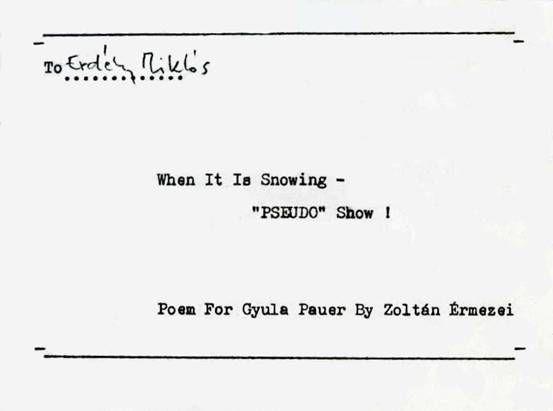 Érmezei: Poem for Gyula Pauer