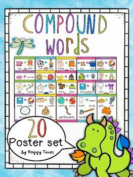 A colourful set of 20 compound words to brighten up any classroom.Included words: earring, cowboy, handbag, teapot, basketball, teapot, dragonfly, sunflower, birdhouse, lipstick, eggplant, mailbox, horseshoe, snowman, rainbow, goldfish, toothbrush, sandcastle, earthworm, snowball.