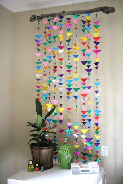 craft: Hanging Triangle Garland || my.life.at.playtime.