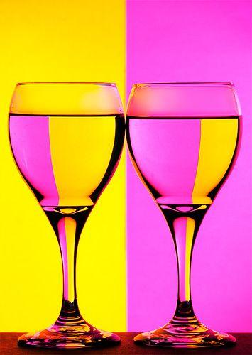 Wine Art - Wine Glass Refraction