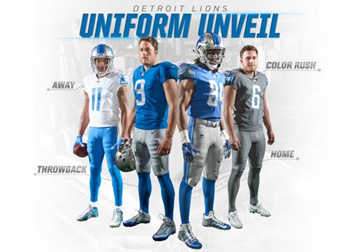 The Detroit Lions unveiled their new Nike Vapor Untouchable uniforms during a season ticket member event at Ford Field tonight