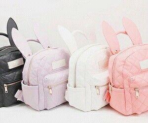Imagem de bag, backpack, and bunny