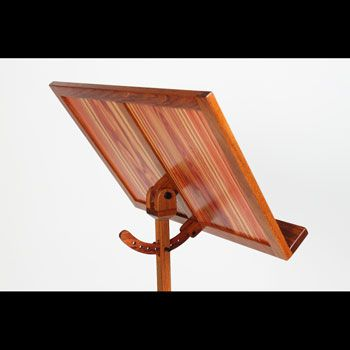 jatoba and tulipwood contemporary wood music stand