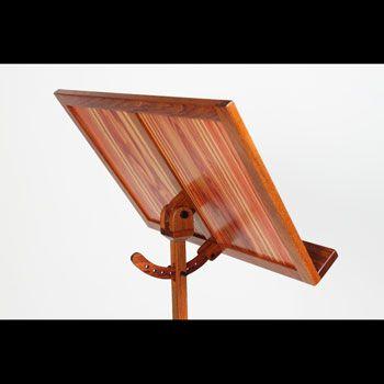 jatoba and tulipwood contemporary wood music stand