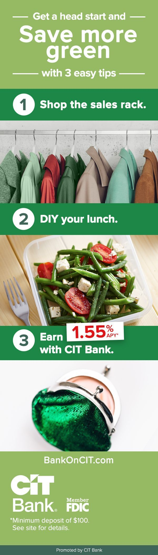 Earn more interest compared to America's most popular banks with CIT Bank.