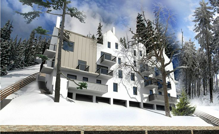 SYAA | Snow Houses www.syaa.ro  #resort #holiday #apartments #Predeal #architecture #design #project #mountain #3D #rendering #lodge