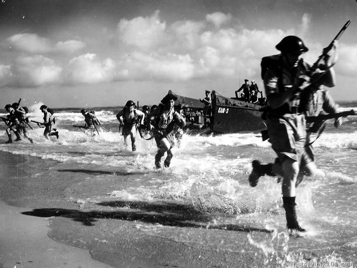 In the lead-up to D-Day (Operation Overlord), 1.5 million American men and women squeezed into southern England by early May. They had been training for months, including this practice run.