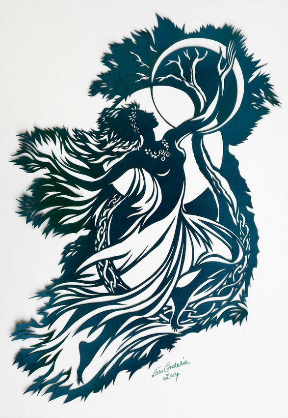 Spirit of Ireland - Goddess Brigid of the Triple Moons