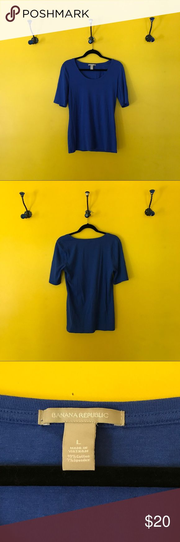 Banana Republic Cobalt Blue Top Banana Republic Cobalt Blue Top.  Rich cobalt blue soft tee.  Longer sleeves round neck.  Great pop of color! Banana Republic Tops Tees - Short Sleeve