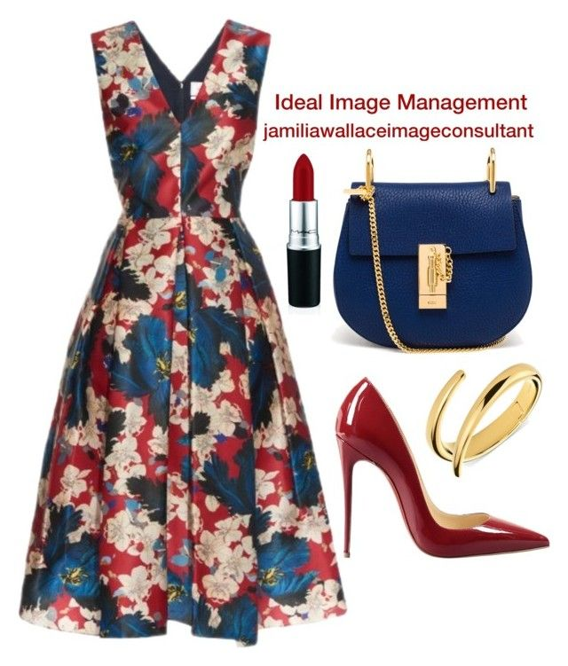 """Ideal Image"" by jamilia-wallace ❤ liked on Polyvore featuring Erdem, Chloé, Christian Louboutin and Calvin Klein"