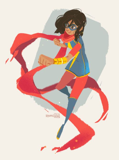 Ms. Marvel (Kamala Khan) has been one of my favorite comic book reads lately! (by abbydraws)