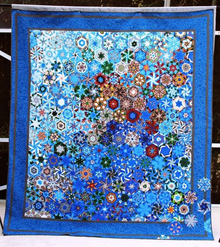 Tampa Kaleidoscope quilt, one block wonder, at QuiltsB
