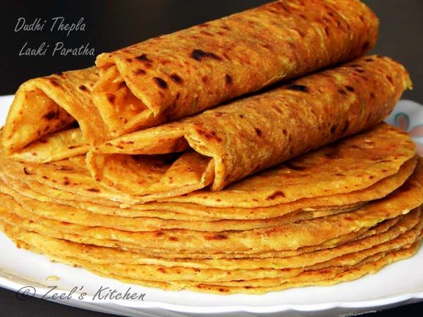 """Dudhi Thepla Lauki Paratha - Here is the one of the best recipe from Gujarati cuisine """" Dudhi Thepla"""" is posted with detailed measurement and step wise photos. Dudhi thepla is also known as Gujarati thepla. You will love the tangy taste of curd and crunch of sesame while having it."""