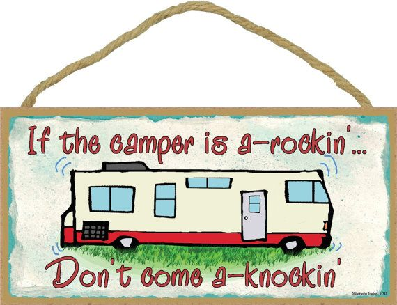 "FUNNY+RV+CAMPING+SIGNS | ... Camping RV Motorhome Travel Trailer SIGN Funny 5"" x 10"" Recreational"