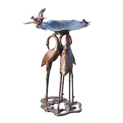 Sunjoy 110307002 Serene Crane Bird Bath