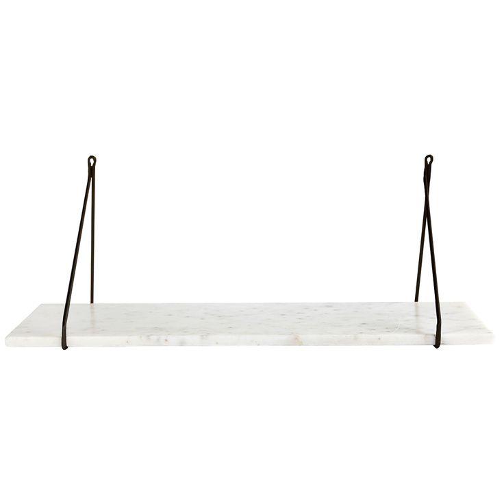 Apart hylly, valkoinen marmori/musta ryhmässä Huonekalut / Säilytys / Hyllyt @ ROOM21.fi (Housedr5)