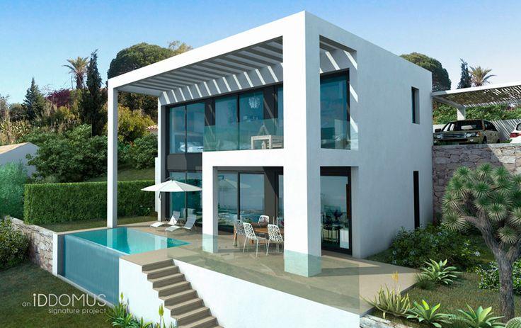 Modern Architecture Iddomus Minimalist Villa In Estepona