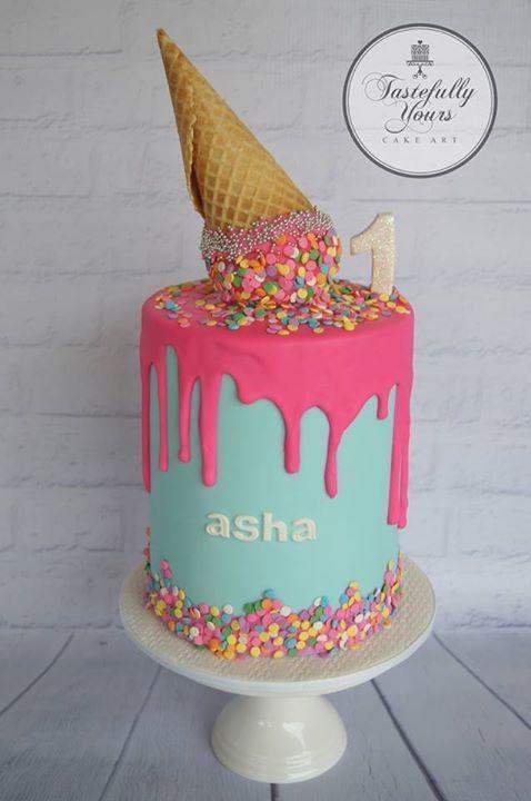 Ice Cream Themed Cake : Best 25+ Ice cream cone cake ideas on Pinterest Cake ...
