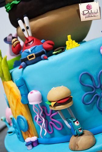 Best 25 Sponge Bob Cake Ideas On Pinterest Sponge Bob