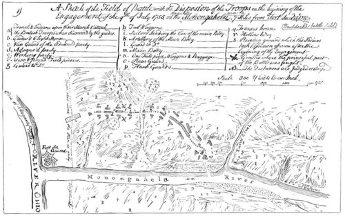 Map of Fort Duquesne, 1755: Forts Duquesne